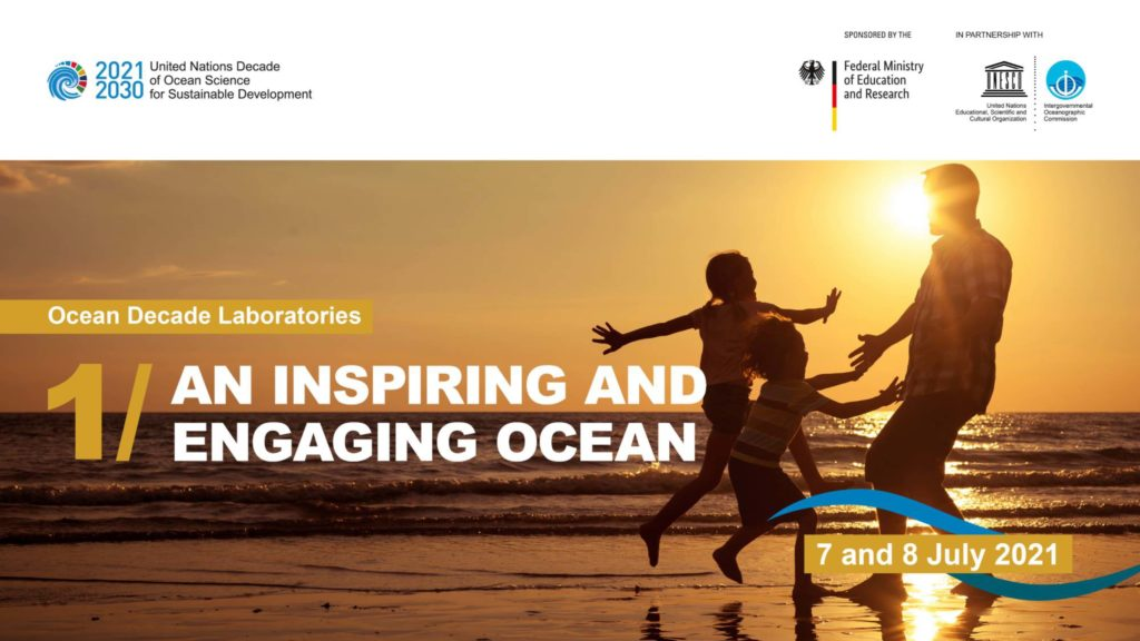 Header of the Ocean Decade Laboratory on 'An Inspiring and Engaging Ocean'