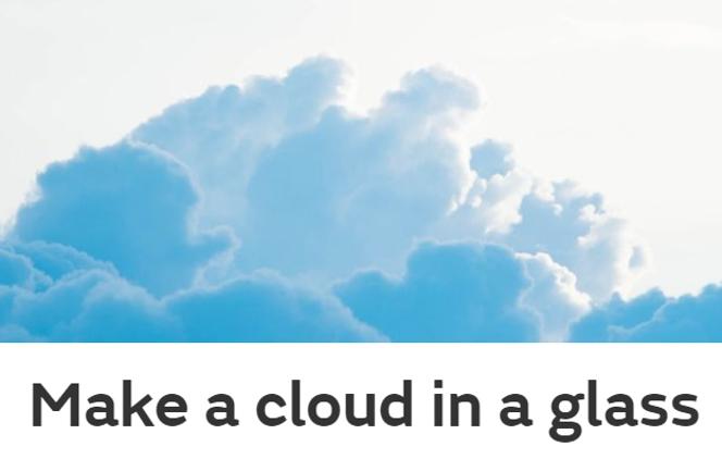 Make a cloud in a glass