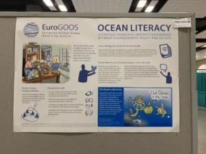 EuroGOOS Ocean Literacy poster at OceanObs'19