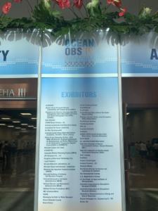 OceanObs'19 exhibition entrance