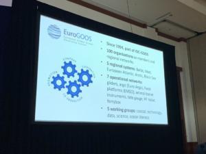 EuroGOOS video in the OceanObs'19 plenary room