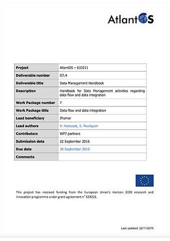 AtlantOS D7.4 Data Management Handbook 2016