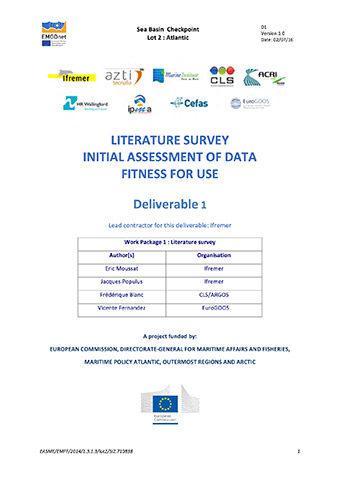 EMODnet Altantic Checkpoint Literature Survey 2016
