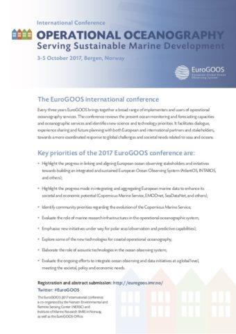 EuroGOOS 2017 Conference Priorities