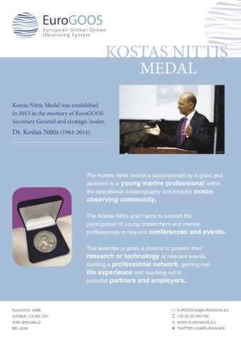 EuroGOOS Kostas Nittis Medal Flyer