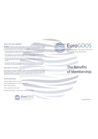 EuroGOOS The Benefits of Membership (2015)