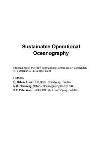 6th EuroGOOS 58 (2011)