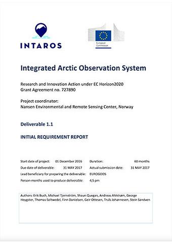 INTAROS D1.1 Initial Requirements Report 2017