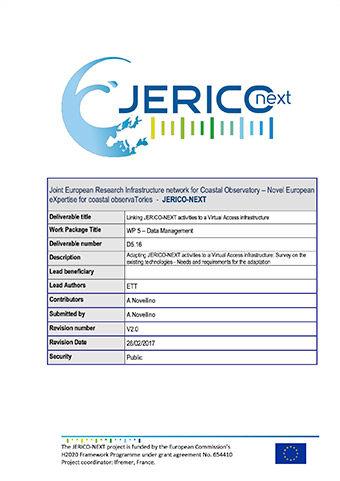 JERICO-NEXT-D5.16 Linking JERICO-NEXT Activities To A Virtual Access Infrastructure 2017