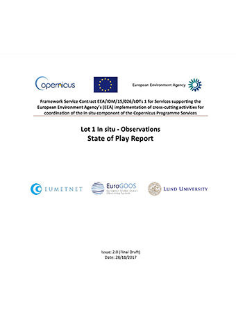 Copernicus In Situ State Of Play Report Observations Data 2017