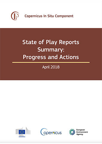 Copernicus In Situ Component State Of Play Reports Summary, April 2018
